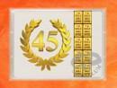 1 g gold gift bar flip motif: Anniversary 45 years