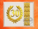 1 g gold gift bar flip motif: Anniversary 30 years