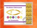 10 g gold gift bar motif: Kommunion fisch