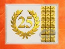 1 g gold gift bar flip motif: Anniversary 25 years