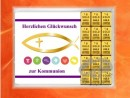 15 g gold gift bar motif: Kommunion fisch