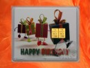 2 g gold gift bar motif: Happy birthday gifts