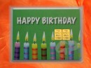 2 g gold gift bar motif: Happy birthday candles