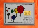 2 g gold gift bar motif: Happy birthday ballons