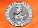 2 oz. The Queen`s Beasts Yale Of Beaufort silver coin...