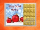 20 g gold gift bar flip motif: Merry Christmas