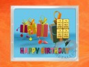 4 g gold gift bar flipmotif: Happy birthday gift
