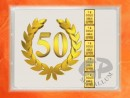1 g gold gift bar flip motif: Anniversary 50 years