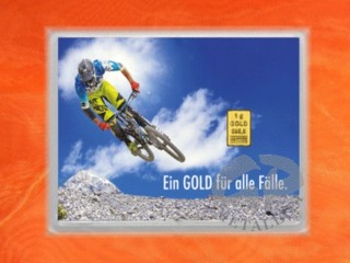 1 g gold gift bar flip motif: For all cases Sports