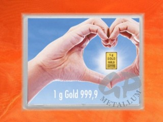 1 g gold gift bar flip motif: golden future