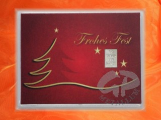 1 g silver gift bar motif: Frohes Fest
