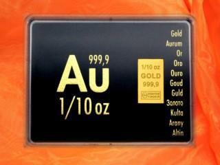 1/10 Unze Gold Geschenkbarren Au international