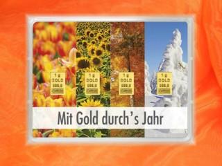 4 Gramm Gold Geschenkbarren Flipmotiv: Mit Gold durchs Jahr