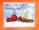 1/10 Unze Gold Geschenkbarren Flipmotiv: Frohes Fest