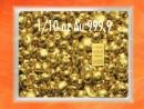 1/10 Unze Gold Geschenkbarren Flipmotiv: Goldgranulat