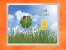 1/10 oz. gold gift bar flip motif: Viel Glück