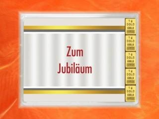 5 Gramm Gold Geschenkbarren Flipmotiv: Jubiläum