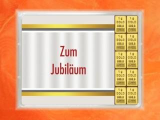 10 Gramm Gold Geschenkbarren Flipmotiv: Jubiläum