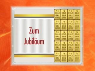 20 g gold gift bar flip motif: Anniversary