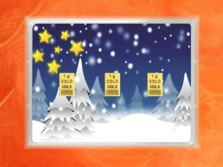 3 g gold gift bar flip motif: Christmas winter wonderland