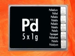 5 g Palladium gift bar Pd international