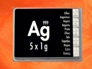 5 Gramm Silber Geschenkbarren Ag international