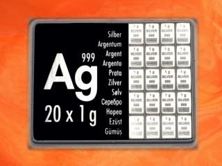 20 g silver gift bar Ag international