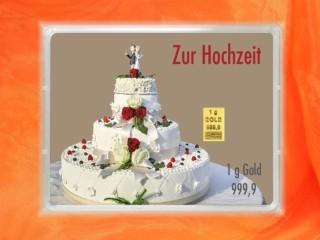 1 g gold gift bar flip motif: wedding cake