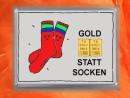 2 g gold gift bar motif: Statt Socken