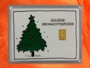 1 g gold gift bar motif: goldene Weihnachten Weihnachtsbaum