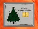 2 g gold gift bar motif: goldene Weihnachten Christmas tree