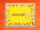 1/10 oz. gold gift bar flip motif:Gratulation Geschafft