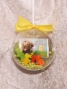 1/10 oz. gold gift bar motif: Happy Easter in gift ball /...