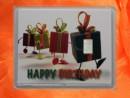 1 g silver gift bar motif Happy birthday presents