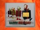 2 g gold gift bar motif: Happy birthday gifts