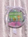 2 g gold gift bar motif: Happy Birthday candles in gift...