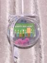 1/10 oz. gold gift bar motif: Happy Birthday candles in...