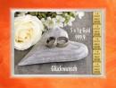 5 Gramm Gold Geschenkbarren Flipmotiv: Hochzeit Ringe Herz