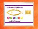 2 g gold gift bar motif: Konfirmation fish