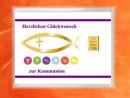 1 g gold gift bar motif: Kommunion fisch