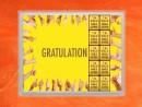 10 g gold gift bar flip motif: Gratulation Geschafft