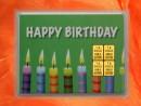 4 Gramm Gold Geschenkbarren Motiv: Happy birthday Kerzen