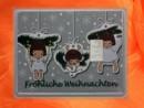1 g silver gift bar motif: Frohe Weihnachten reindeer
