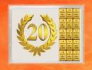 15 Gramm Gold Geschenkbarren Flipmotiv: Jubiläum 20...