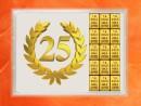 15 Gramm Gold Geschenkbarren Flipmotiv: Jubiläum 25...
