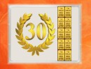 1 g gold gift bar flip motif: Anniversary 30 years