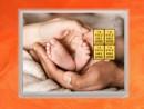 4 Gramm Gold Geschenkbarren Flipmotiv: Zur Geburt