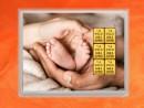6 g gold gift bar flip motif: childbirth Zur Geburt