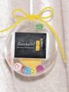 2 g gold gift bar Gratulation exam in gift ball / globe...