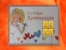 4 Gramm Gold Geschenkbarren Motiv: Kommunion Mädchen